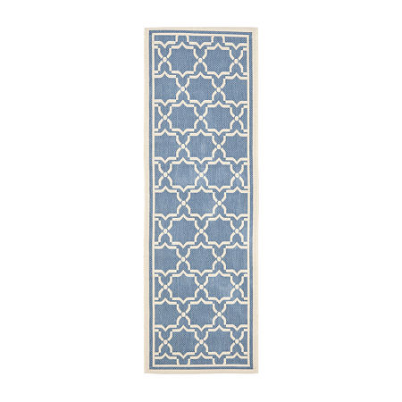 Safavieh Courtyard Collection Caymen Oriental Indoor/Outdoor Runner Rug, One Size , Multiple Colors