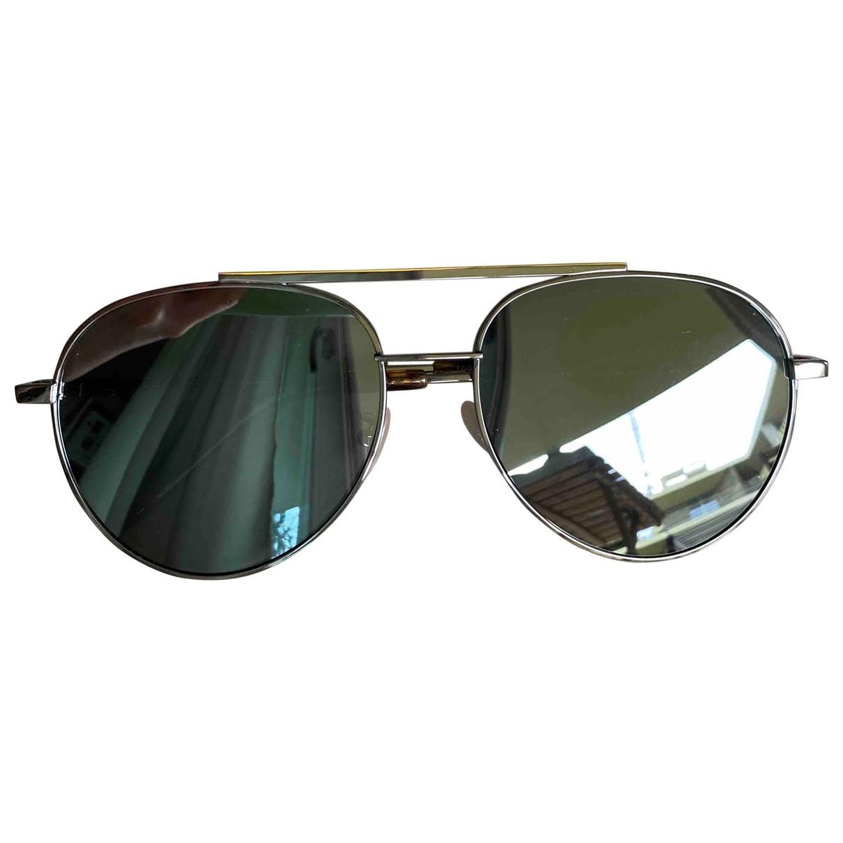 Fendi \N Black Metal Sunglasses for Men \N