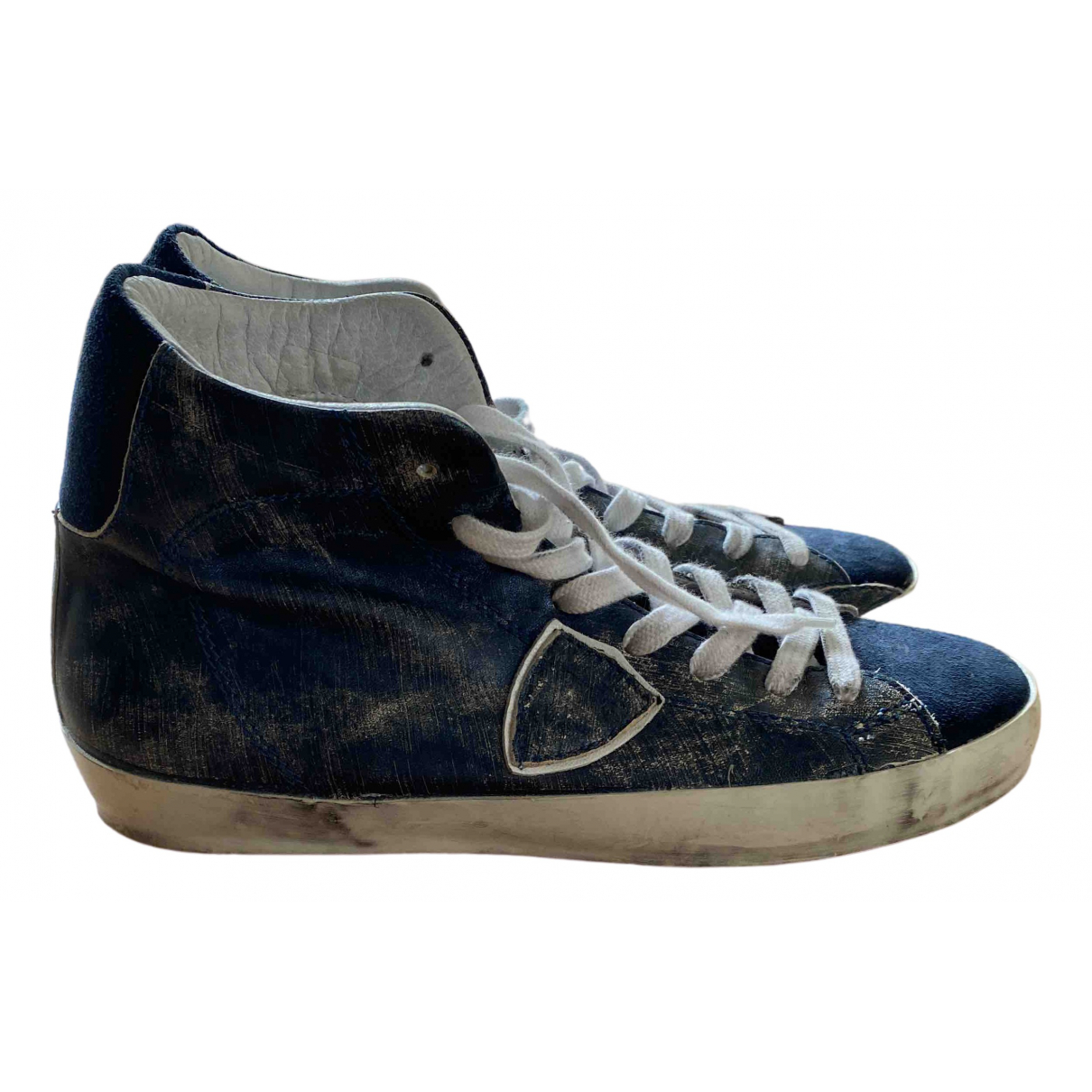 Philippe Model \N Blue Leather Trainers for Women 41 EU
