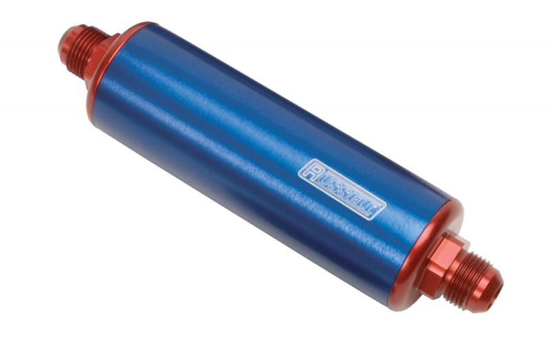 Russell FUEL FILTER; PROFILTER; 8.25in. LONG;-6 MALE IN/OUT; 60 MICRON NYLON ELEMENT; IN