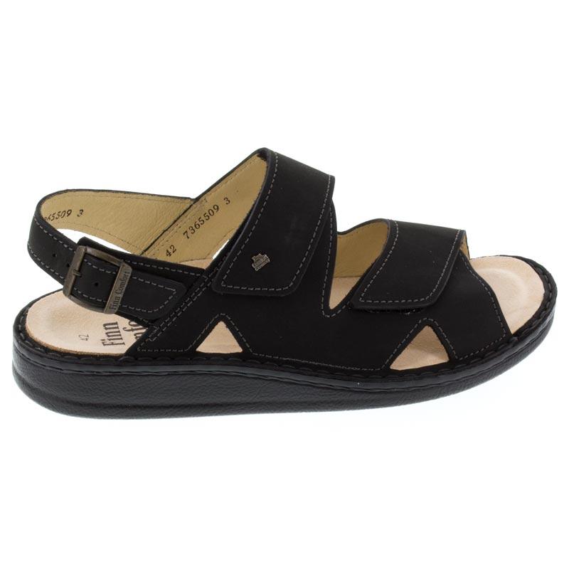 Finn Comfort Toro Black Leather Soft Footbed 44