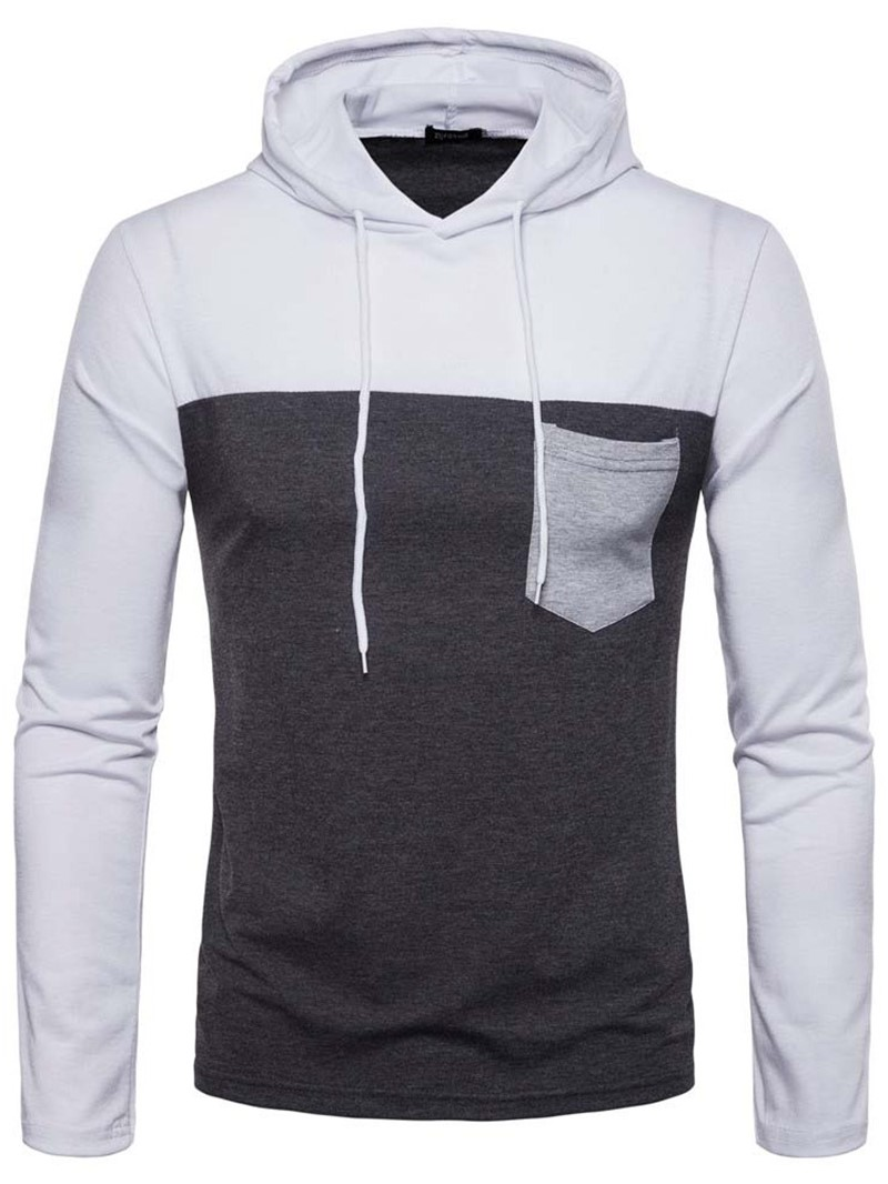 Ericdress Pocket Color Block Pullover Casual Men's Hoodies