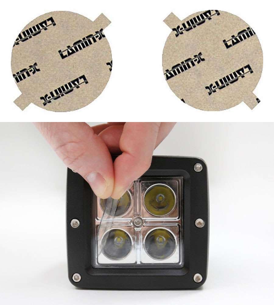 Nissan SR/SER/SpecV 07-12 Round Clear Fog Light Covers Lamin-X N420CL