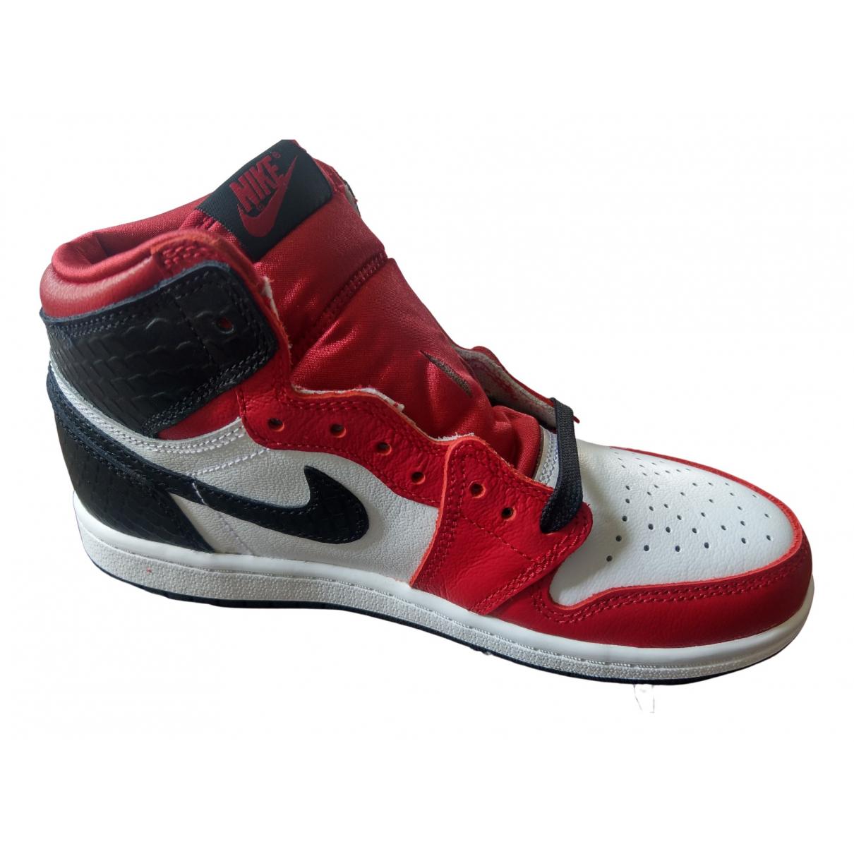 Jordan Air Jordan 1  Red Leather Trainers for Kids 35 FR