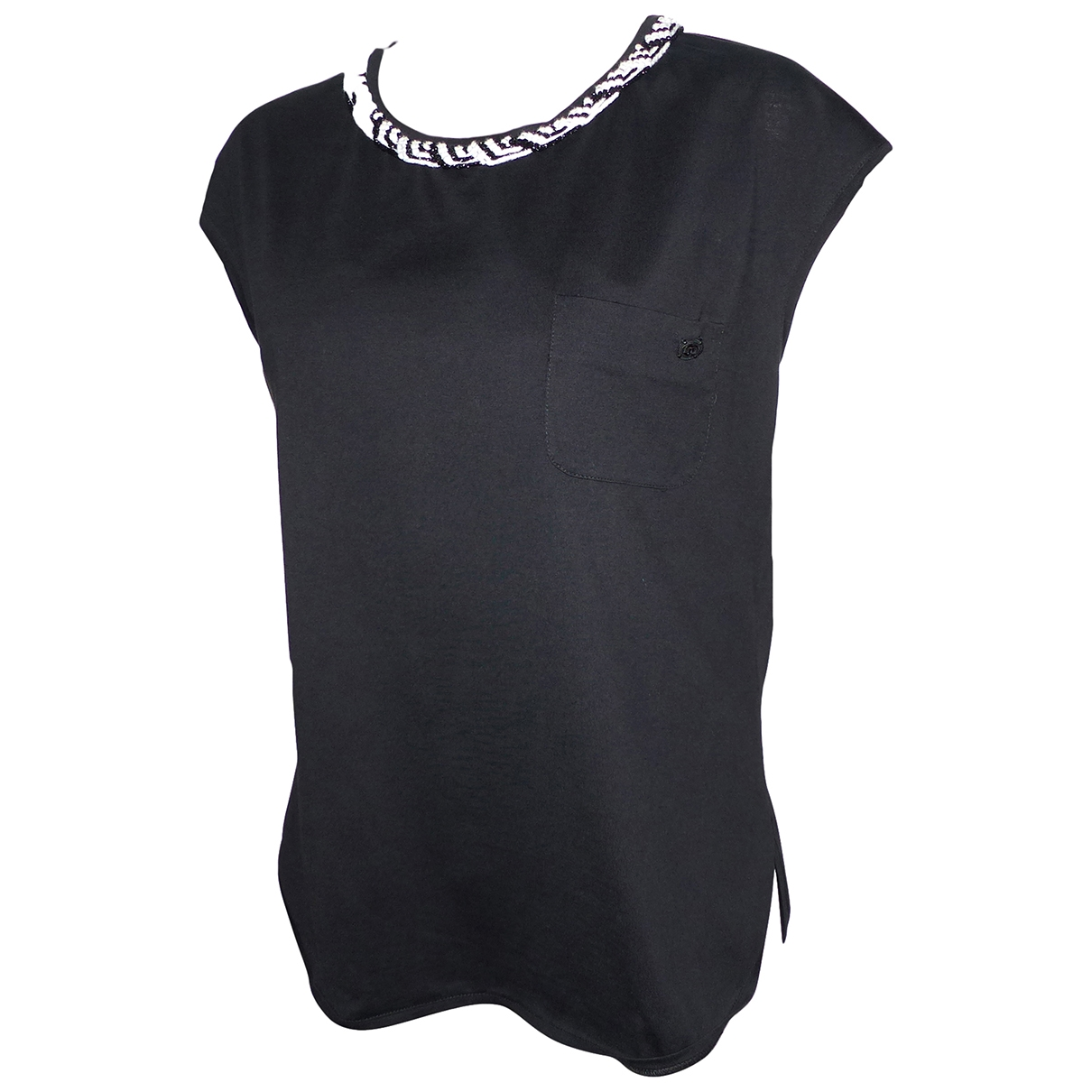 Chanel \N Black Cotton  top for Women 42 FR