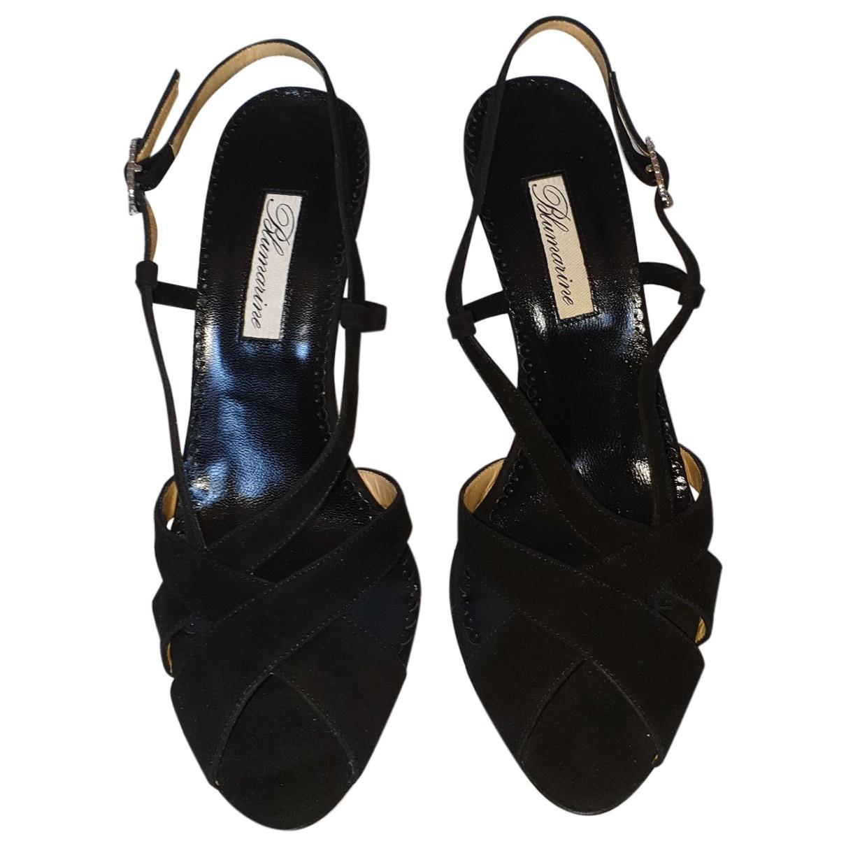 Blumarine \N Black Suede Heels for Women 37 EU