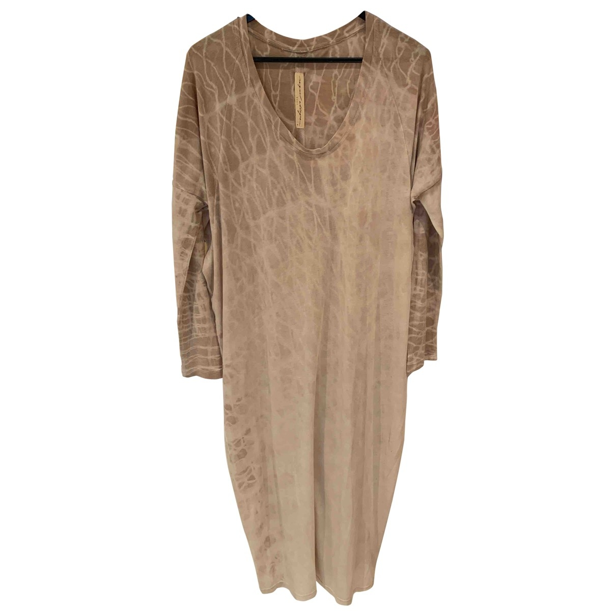 Raquel Allegra \N Beige Cotton - elasthane dress for Women 0 0-5