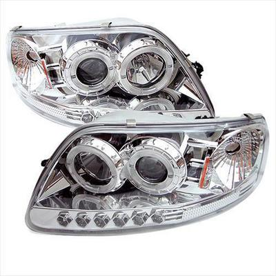 Spyder Auto Group Halo LED Projector Headlights (Clear) - 5010278