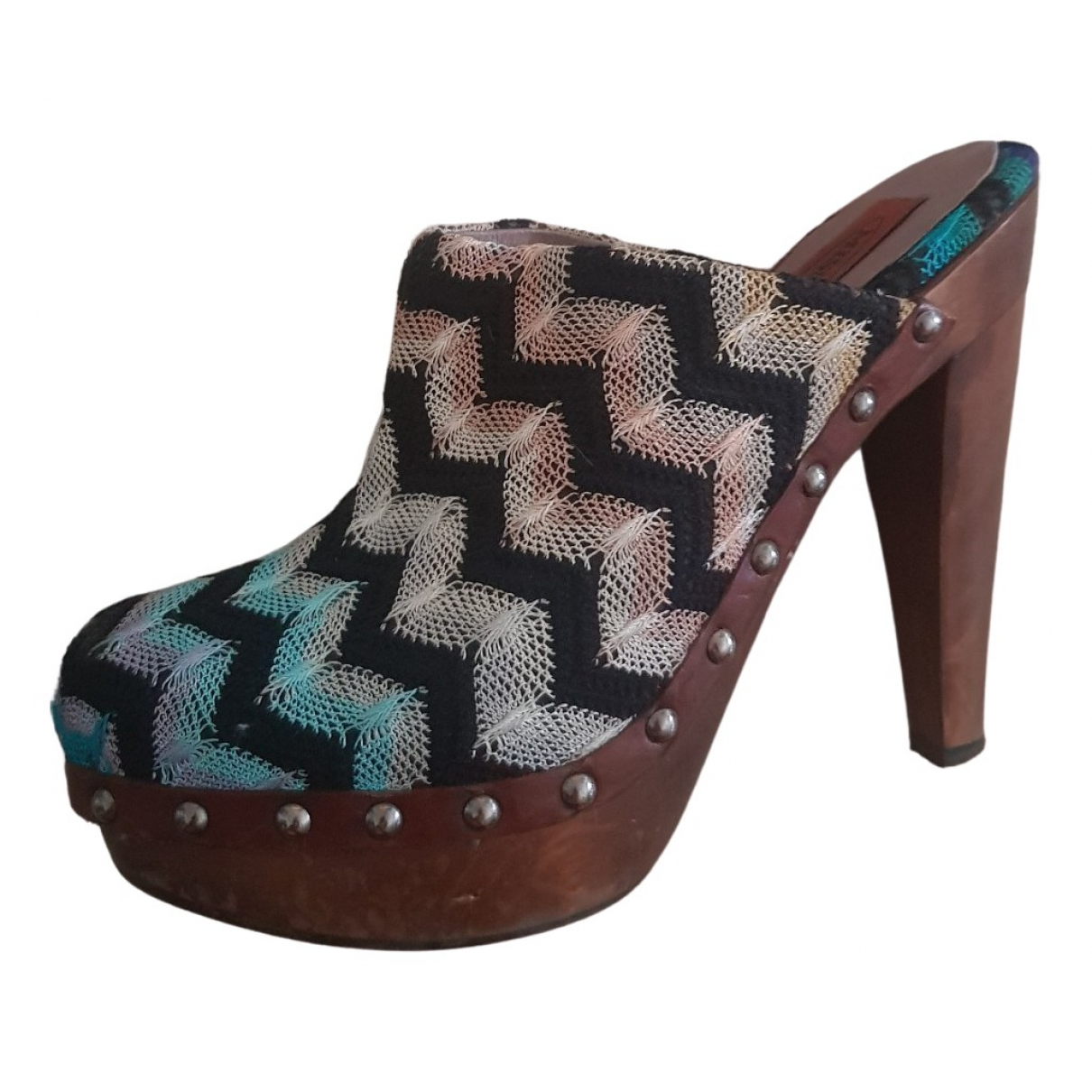 Missoni \N Multicolour Leather Mules & Clogs for Women 37 EU