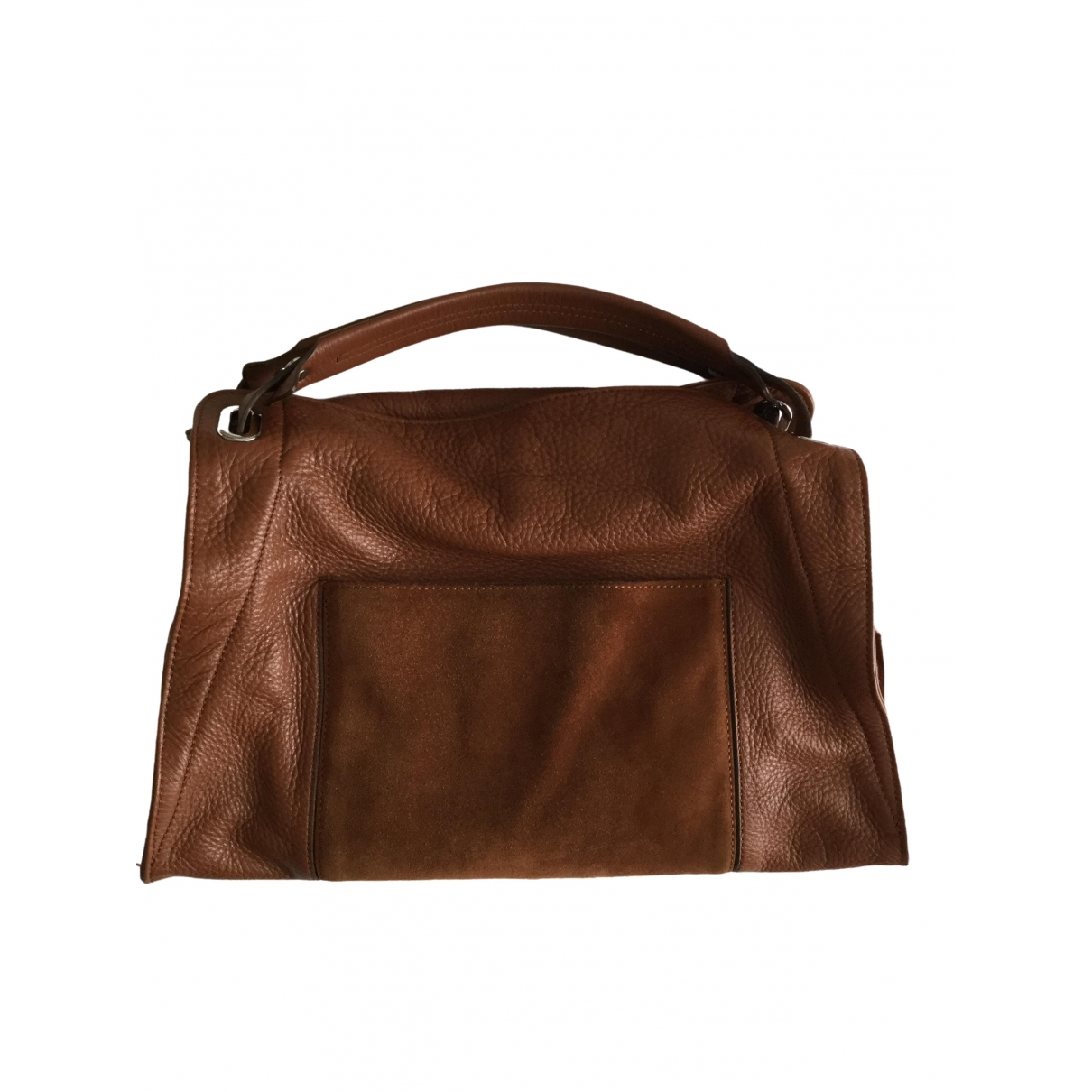 Sandro \N Camel Leather handbag for Women \N