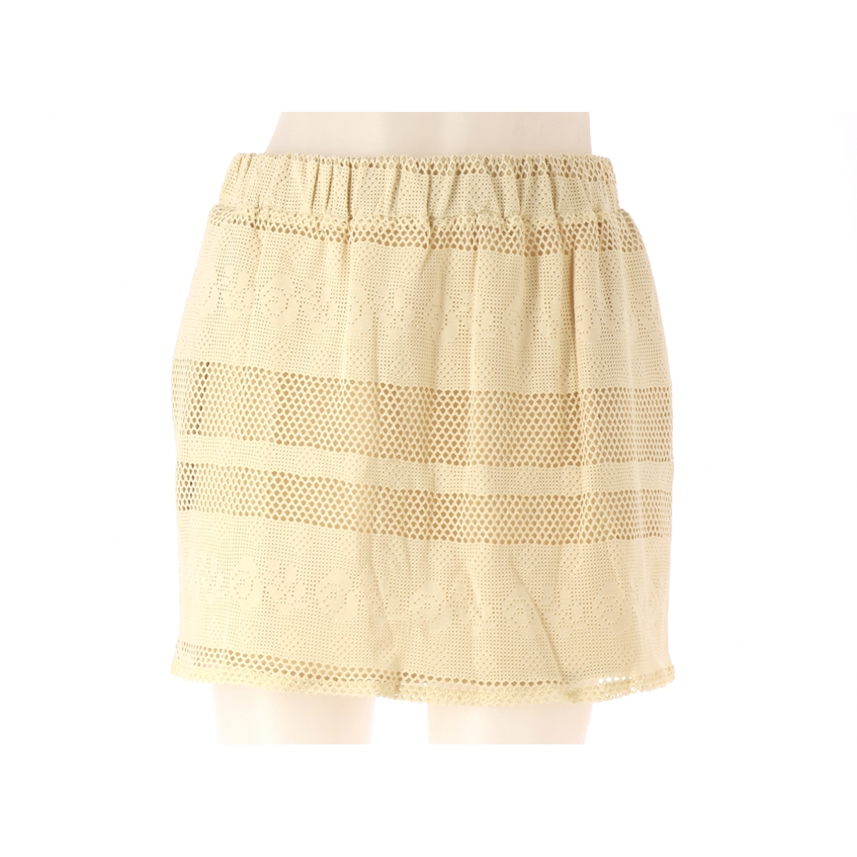 Non Signé / Unsigned \N Beige Cotton skirt for Women 36 FR