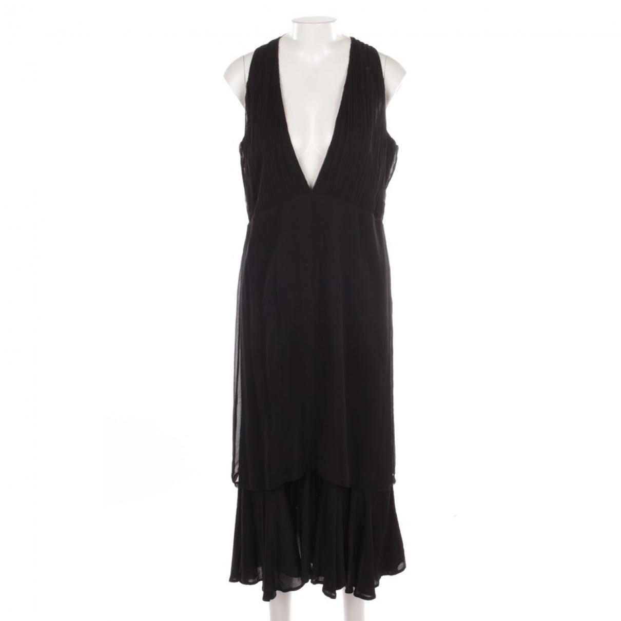 Hironae \N Black Silk dress for Women 40 FR