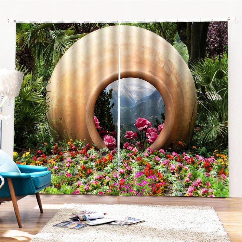 Beddinginn Waterproof Landscape Modern Curtains/Window Screens
