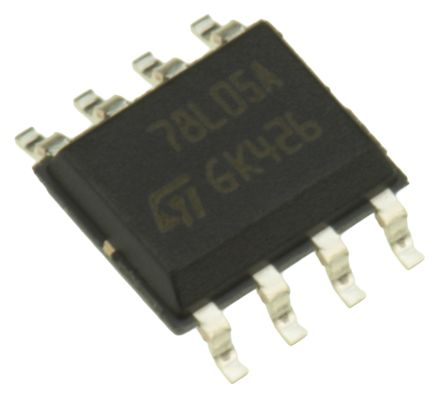 STMicroelectronics , 5 V Linear Voltage Regulator, 100mA, 1-Channel, ±5% 8-Pin, SOIC L78L05ACD13TR (50)