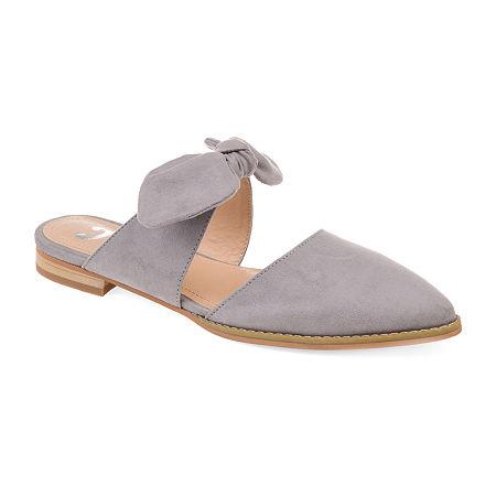 Journee Collection Womens Telulah Slip-On Shoe, 5 1/2 Medium, Gray