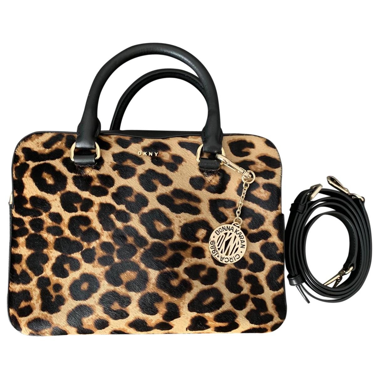 Dkny \N Multicolour Pony-style calfskin handbag for Women \N