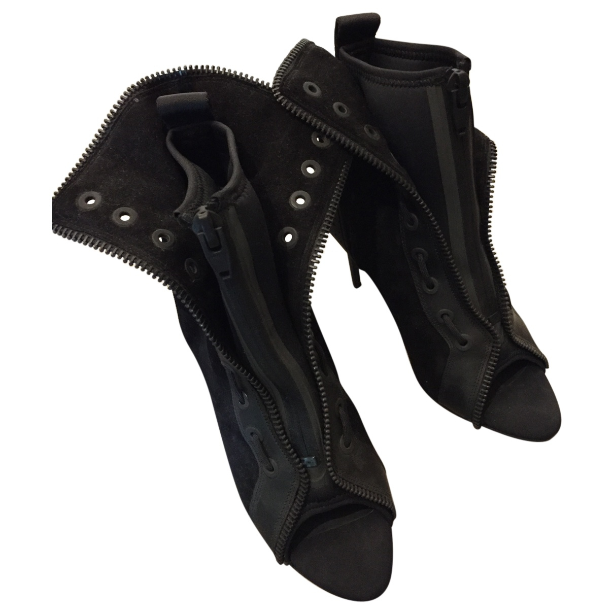 Alexander Wang Pour H&m \N Black Leather Ankle boots for Women 38 EU
