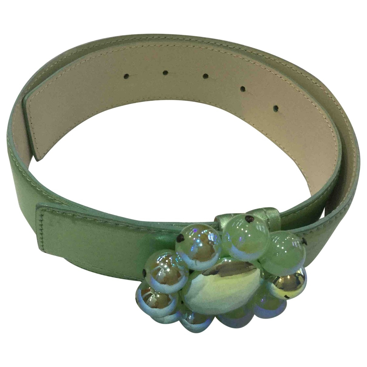 Moschino Cheap And Chic \N Green Leather belt for Women 90 cm