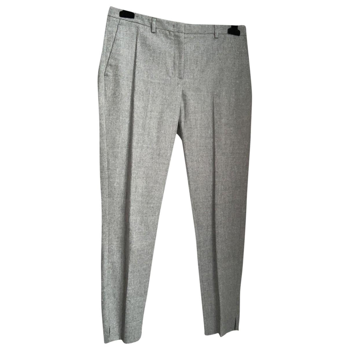 Fabiana Filippi \N Grey Wool Trousers for Women 42 IT