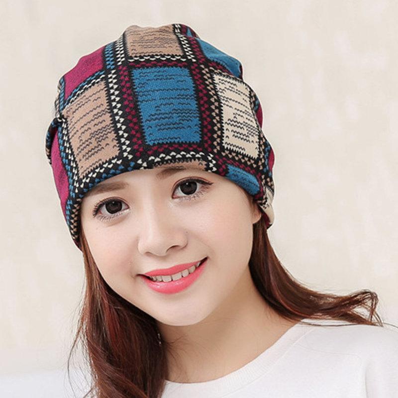 Lady Cotton Velvet Mesh Multi-Functional Warm Beanie Hat Leisure Fashion Soft Hat