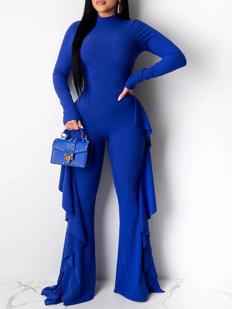Ericdress Casual Plain Full Length Slim High Waist Jumpsuit