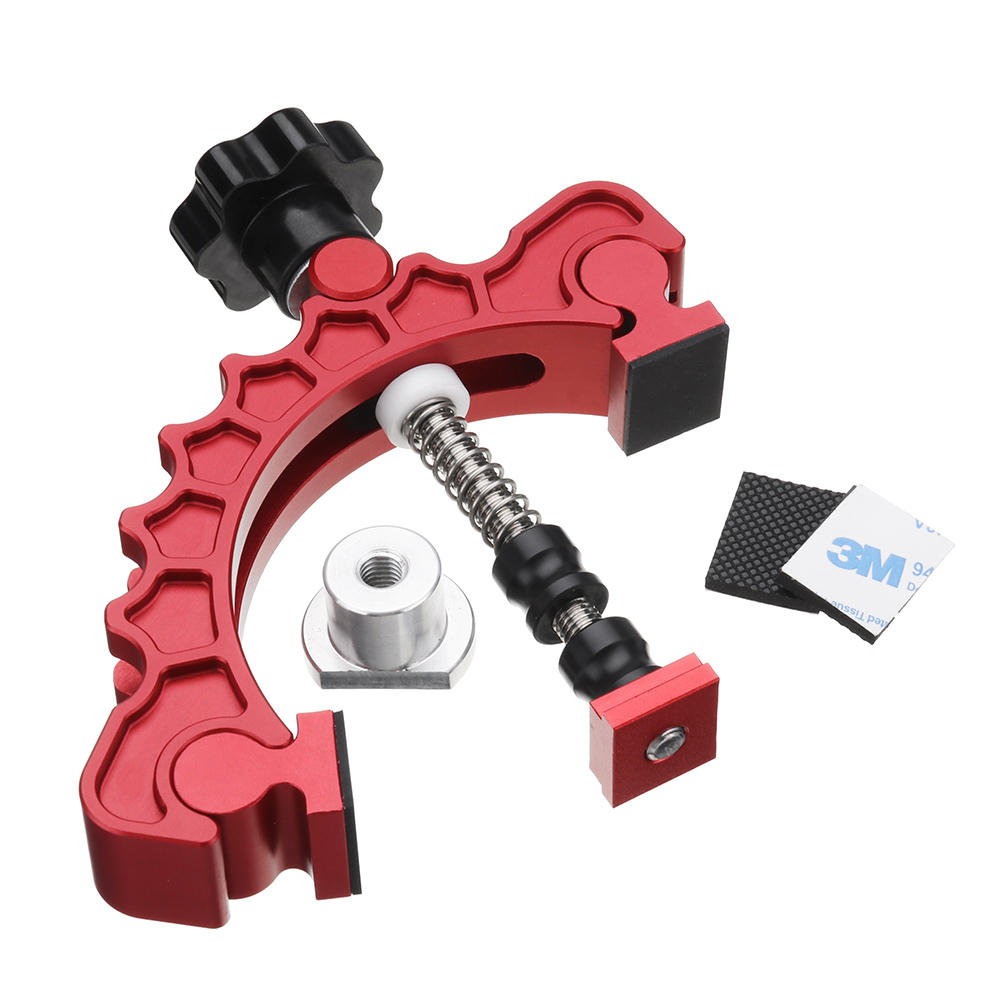 HONGDUI Aluminum Alloy Knuckle Clamp Adjustable Press Plate T-Track Clamp Quick Acting Hold Down Clamp Precision Woodwor