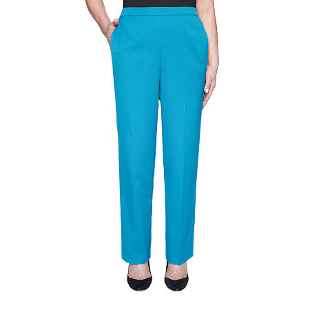 Alfred Dunner Colorado Springs Womens Straight Pull-On Pants, 10 Short , Blue