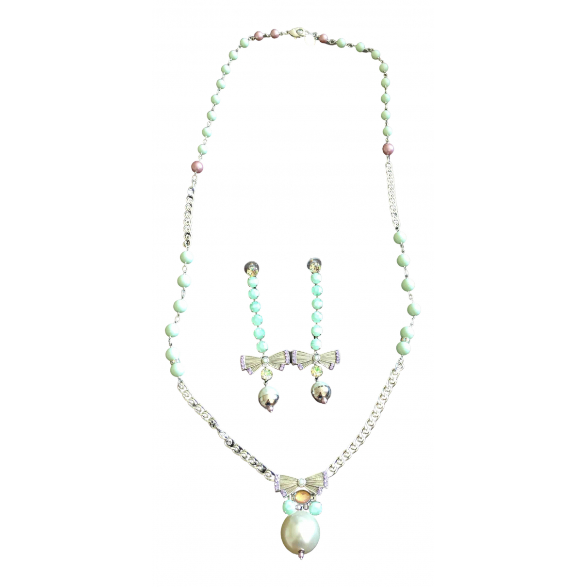 Reminiscence \N Silver Pearls Jewellery set for Women \N