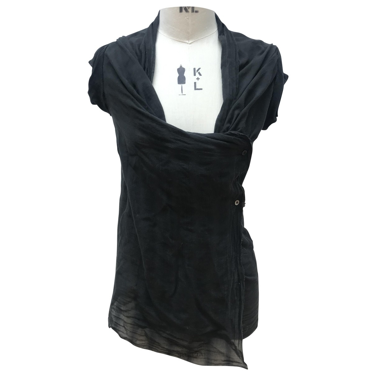 Vivienne Westwood Anglomania \N Black Cotton  top for Women 40 IT