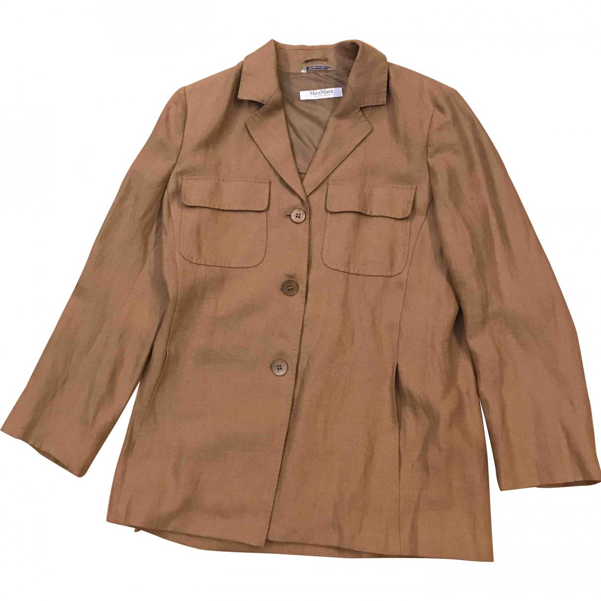 Max Mara \N Beige Linen jacket for Women 46 IT
