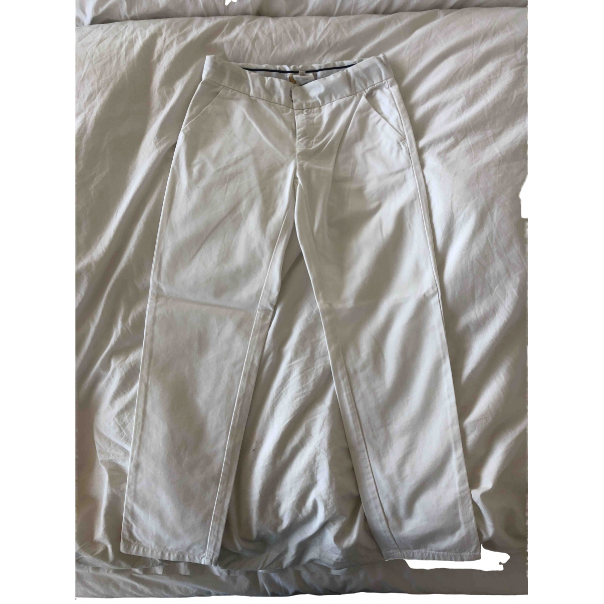Jacadi \N White Cotton Trousers for Kids 8 years - up to 128cm FR