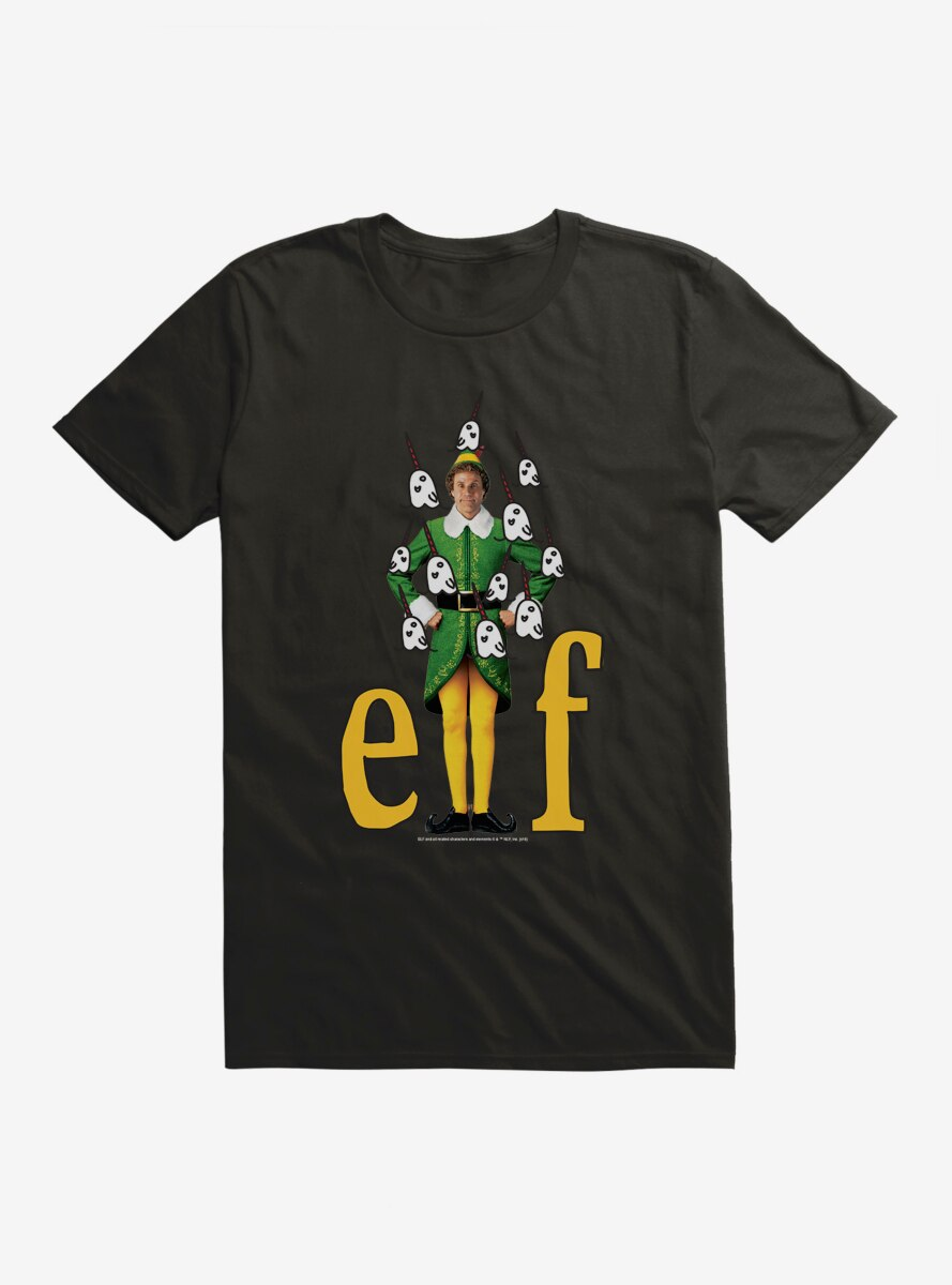 Elf Buddy Narwhal Icons T-Shirt