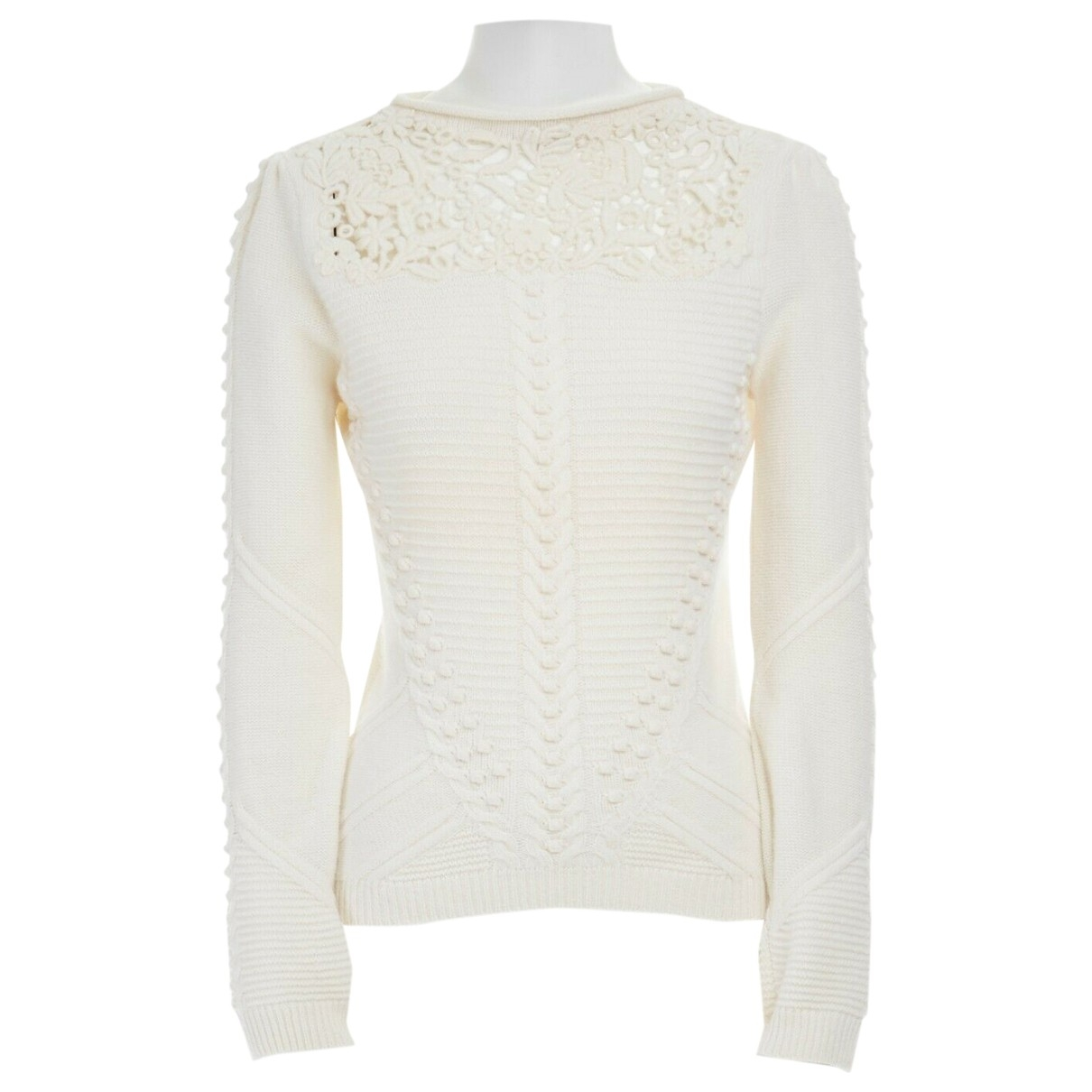 Valentino Garavani \N Ecru Wool Knitwear for Women 40 IT