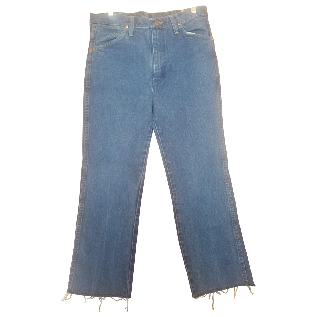 Wrangler \N Blue Cotton Jeans for Women 30 US