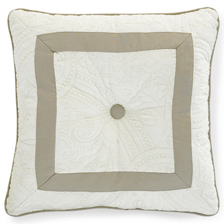 Bensonhurst Tufted Square Decorative Pillow, One Size , White