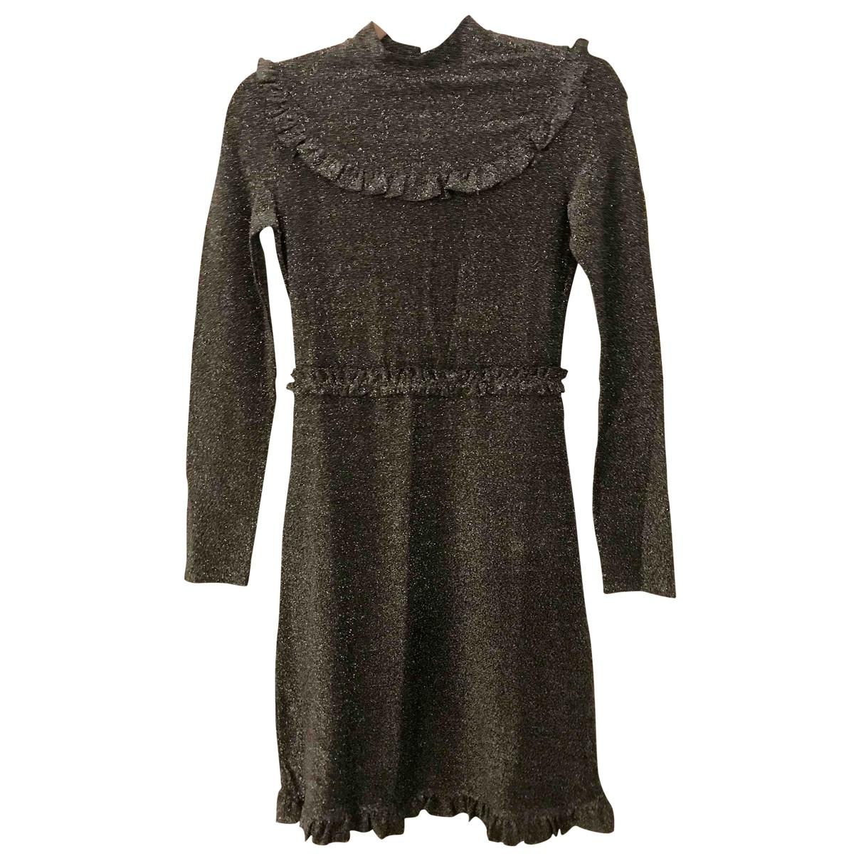 Maje \N Silver Glitter dress for Women 36 FR
