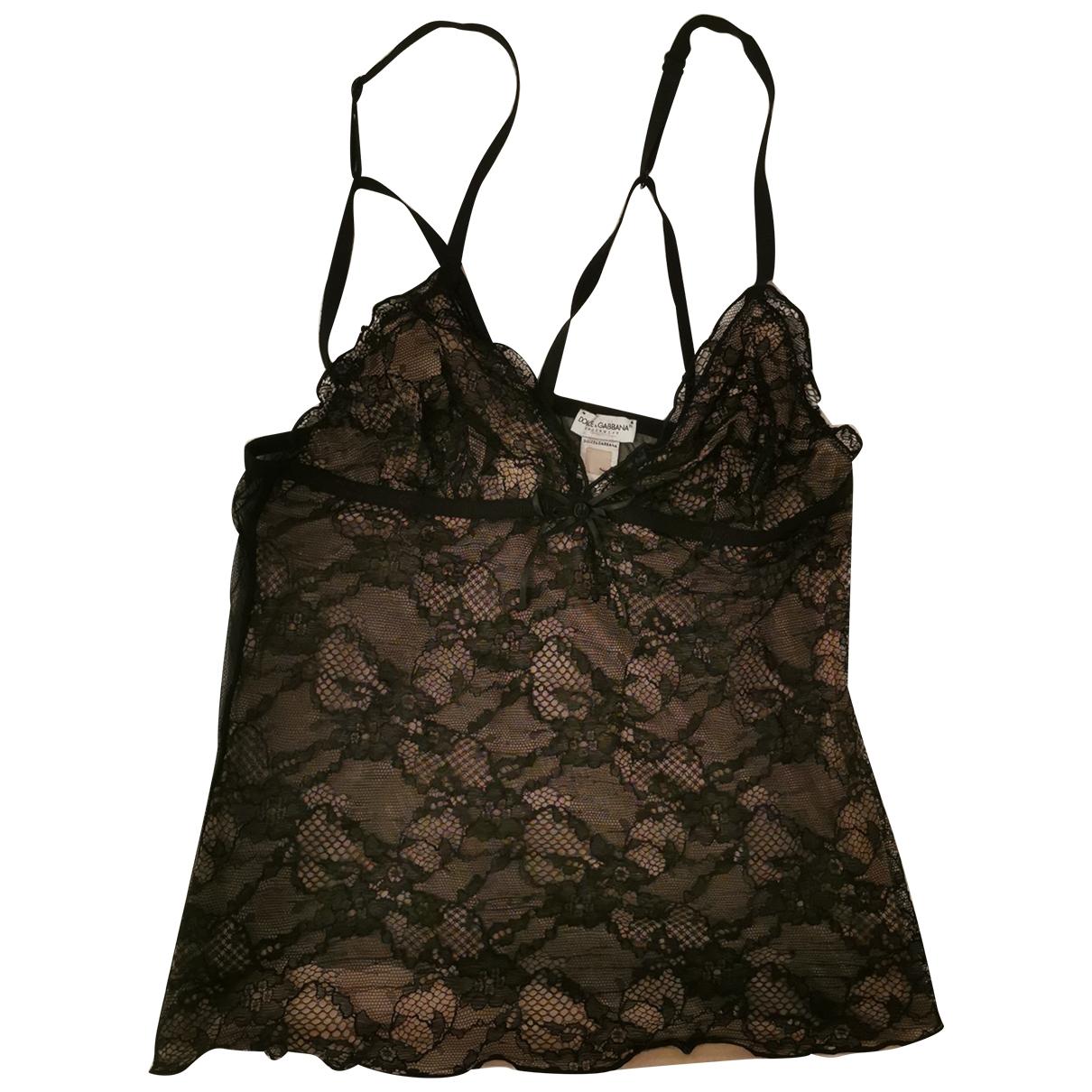 Dolce & Gabbana \N Black Lace  top for Women 42 IT
