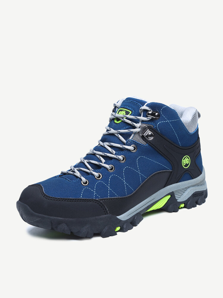 Men Suede Non-slip Anti-collision Shock Absorption Hiking Sneakers