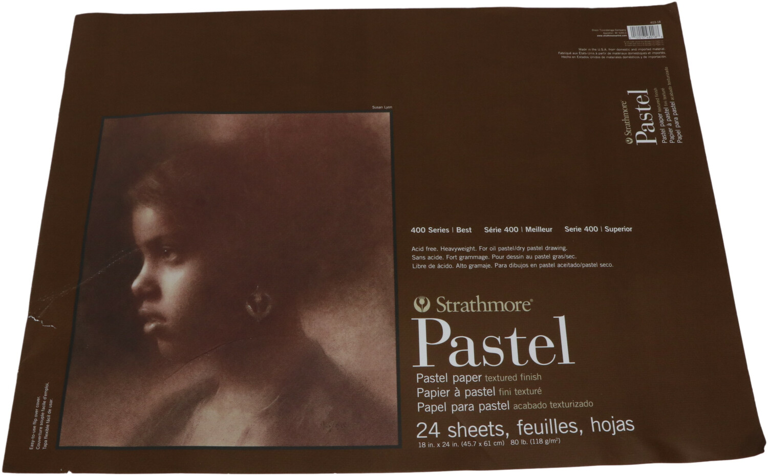 Strathmore 400 Series Pastel Paper, 24 Sheets Paper 403-18