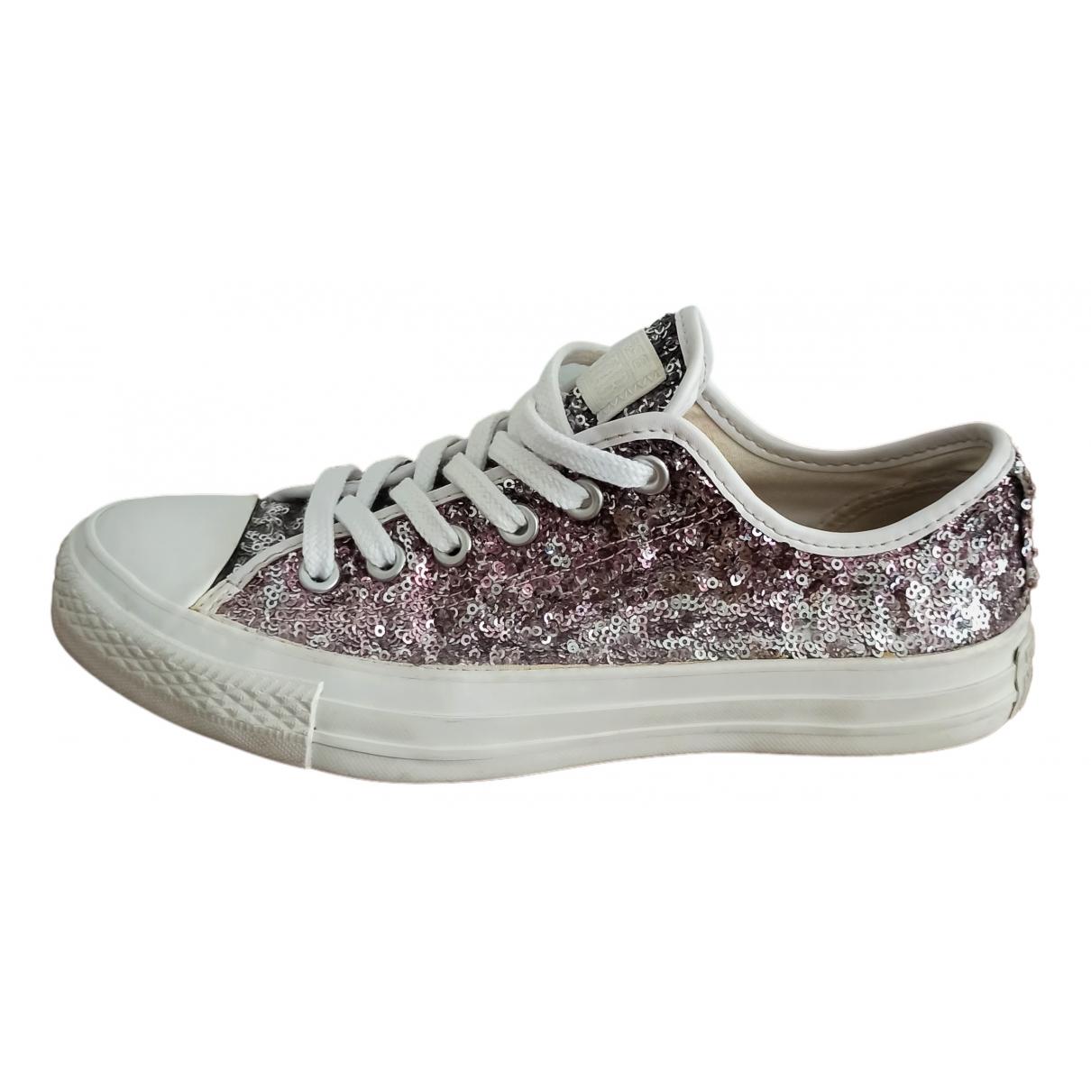 Converse \N Silver Glitter Trainers for Women 39 EU