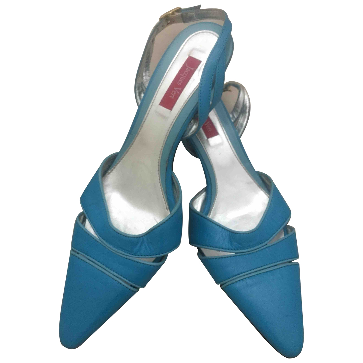 Non Signé / Unsigned \N Blue Leather Heels for Women 38 EU