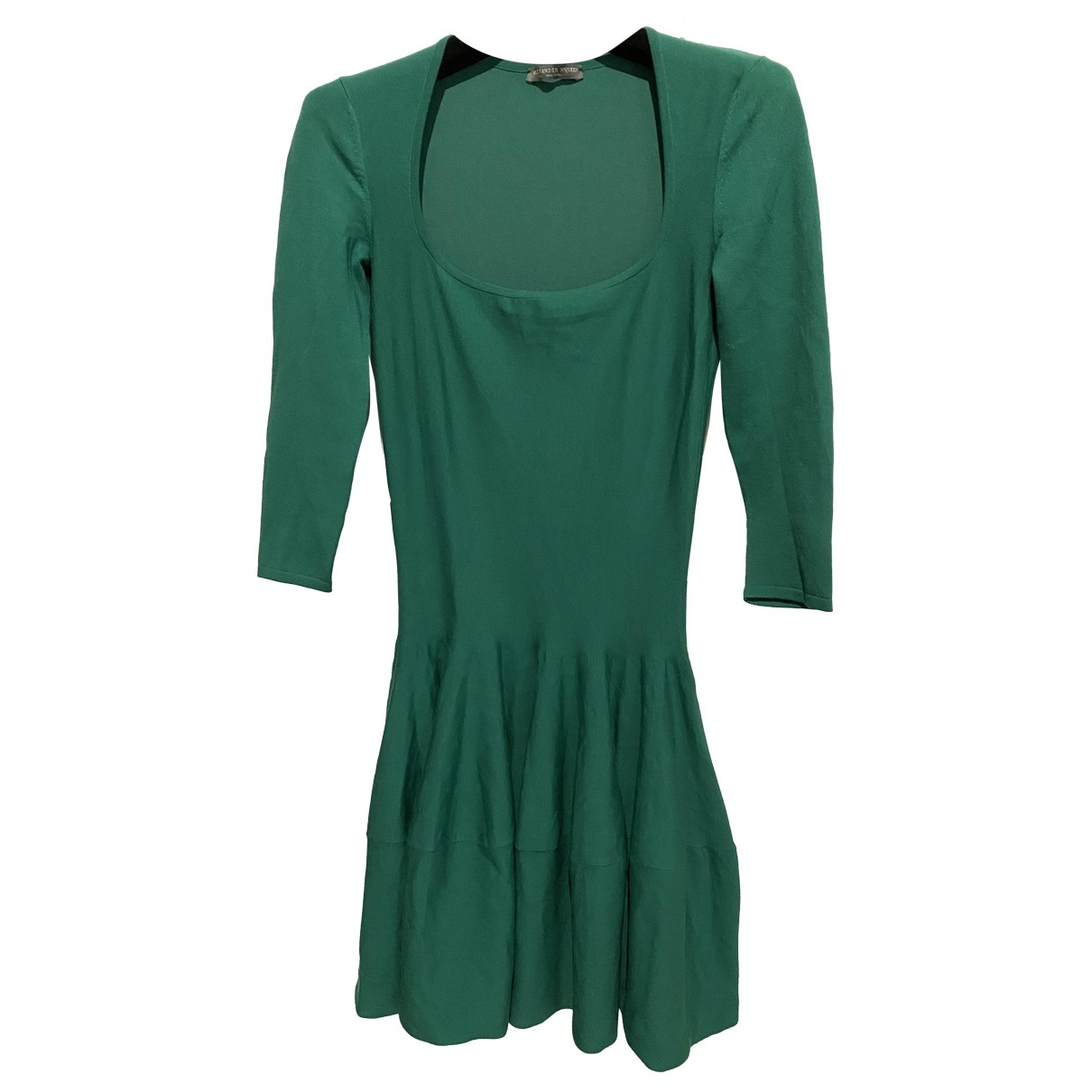 Alexander Mcqueen \N Green Wool dress for Women XS International