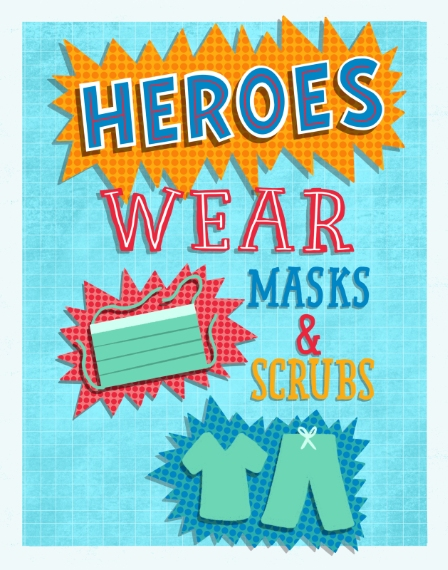 COVID-19 11x14 Poster(s), Board, Home Décor -Heroes