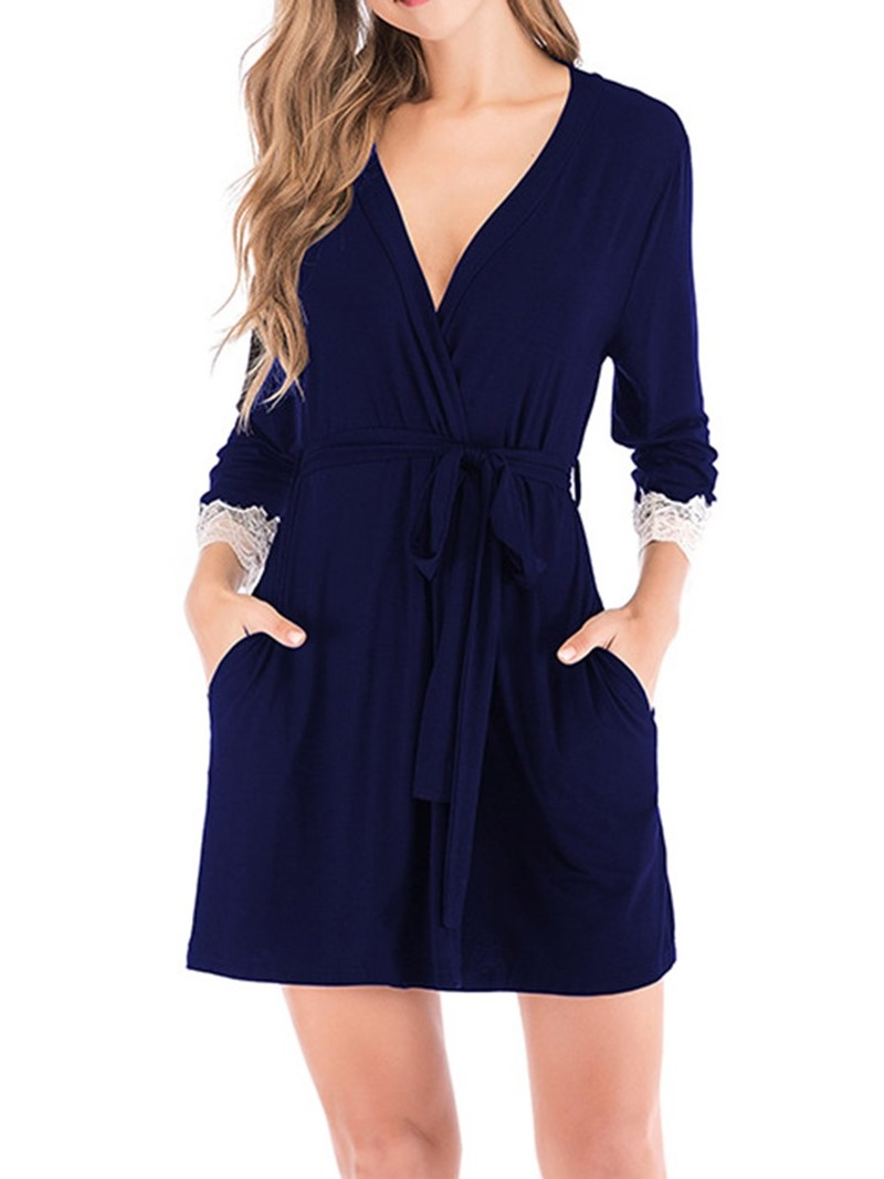 Ericdress Plain Lace Fashion Slim Night-Robes