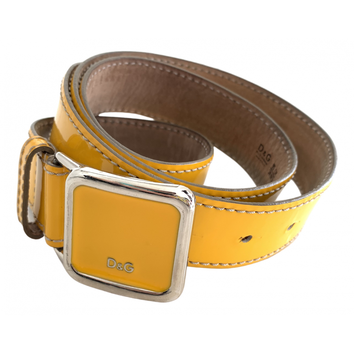 D&g \N Yellow Leather belt for Women 95 cm