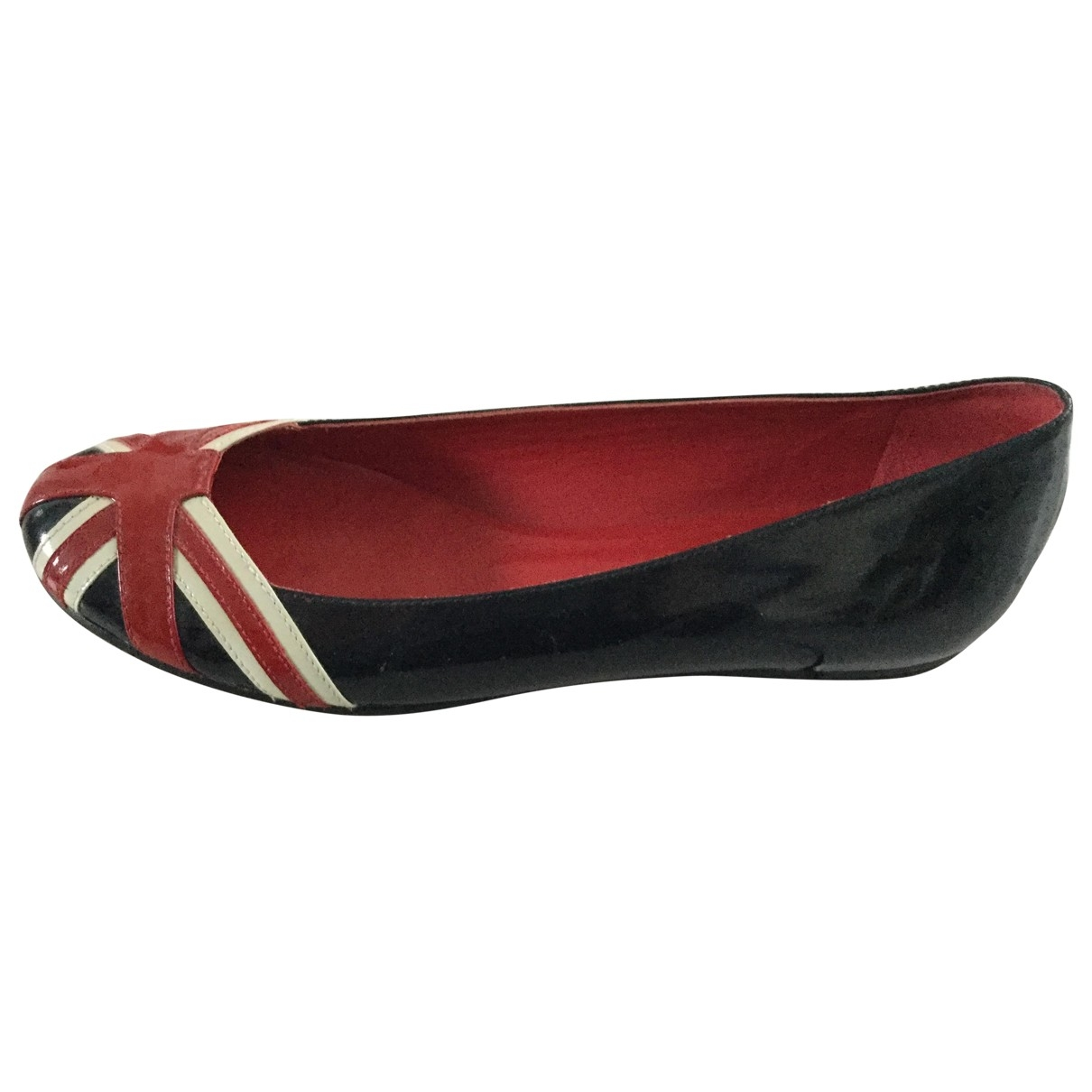 Moschino Love \N Navy Patent leather Ballet flats for Women 8 UK
