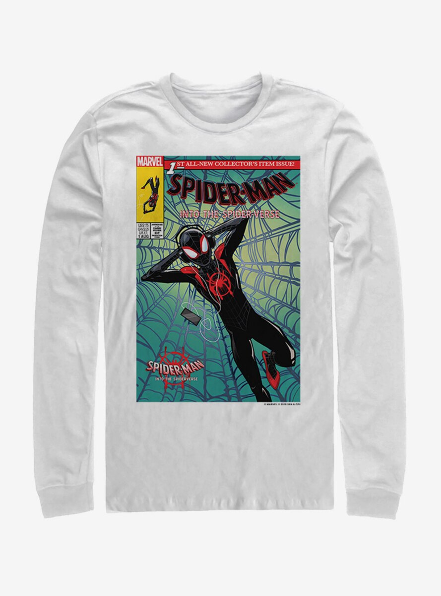 Marvel Spider-Man: Into the Spider-Verse Music Time Womens Long-Sleeve T-Shirt