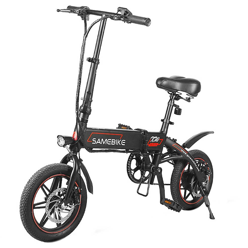 Samebike YINYU14  Folding Smart Bicycle Moped Electric Bike 250W Motor Max 25km/h 14 Inch Tire-Black