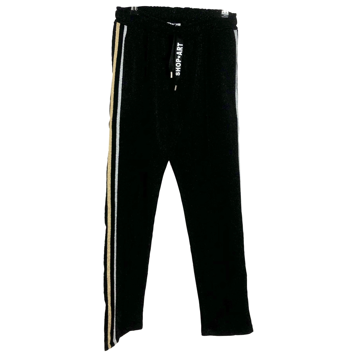 Non Signé / Unsigned \N Black Trousers for Women M International