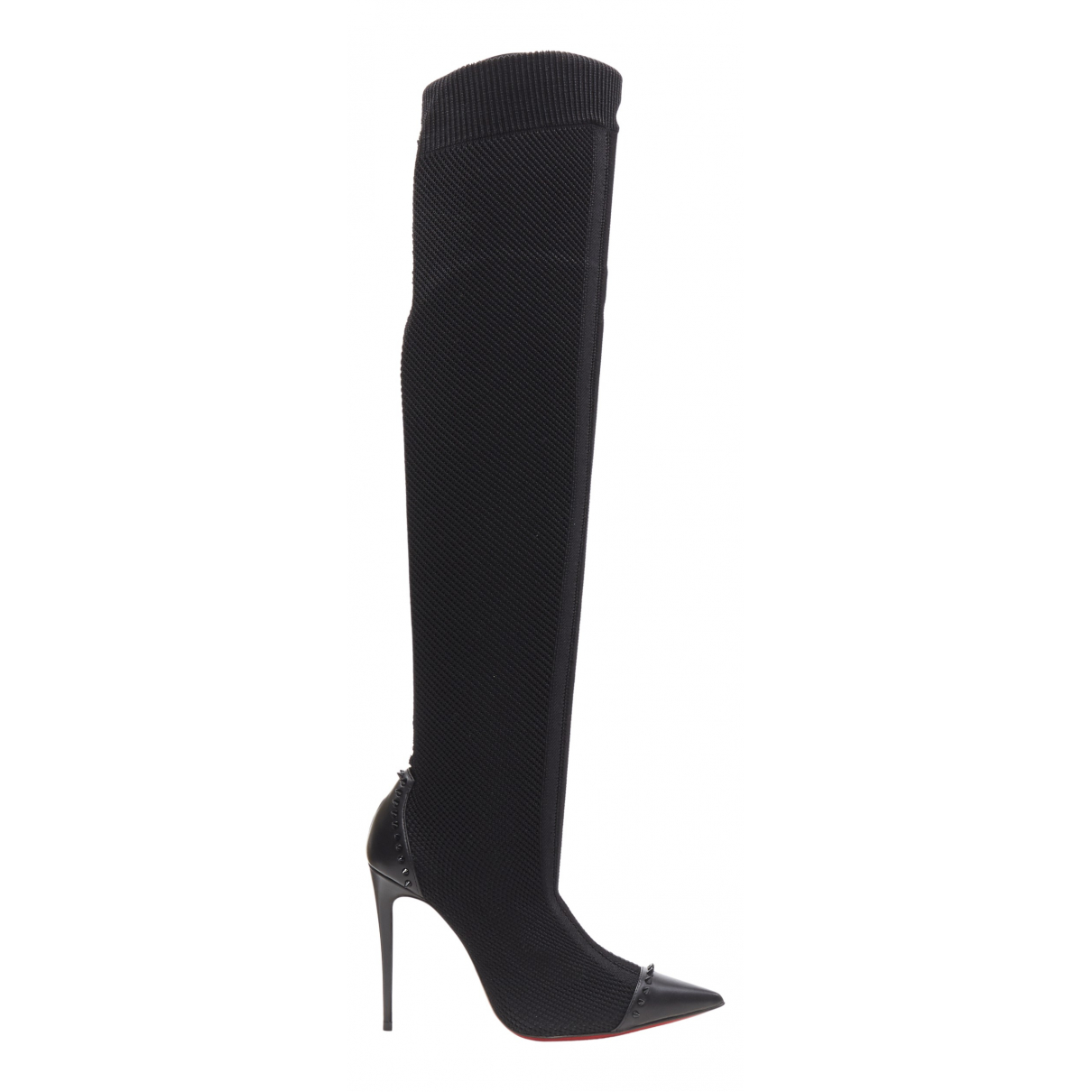 Christian Louboutin \N Black Suede Boots for Women 37 EU